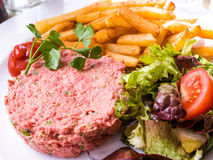 Tasty Steak tartare (Raw beef) Royalty Free Stock Photos