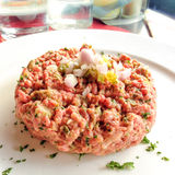Tasty Steak tartare Stock Photo