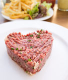 Tasty Steak tartare (Raw beef) Royalty Free Stock Images