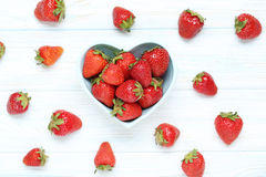 Tasty strawberries Stock Photos
