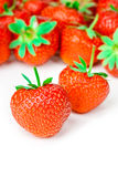 Tasty strawberries isolated on white background. Fresh tasty strawberries isolated on white background Stock Photo