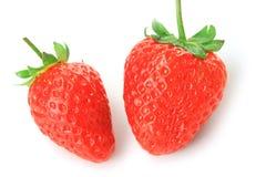 Tasty strawberry. Isolated on white background Stock Photography