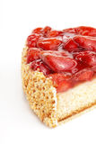 Tasty strawberry cake isolated Royalty Free Stock Photos