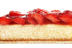 Tasty strawberry cake isolated Stock Image