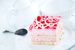 Tasty strawberry cake Royalty Free Stock Photos