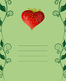 Tasty strawberry card Royalty Free Stock Photos