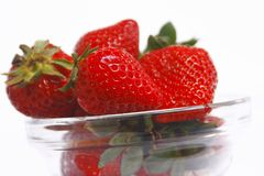 Tasty strawberry in bowl Stock Photo