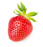 Tasty strawberry isolated on the white background Royalty Free Stock Photography