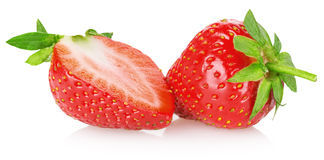 Tasty strawberry  on the white background Royalty Free Stock Photo