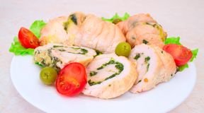 Tasty stuffed Chicken Salad . Royalty Free Stock Photography