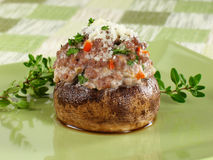 Tasty Stuffed Mushroom royalty free stock photo