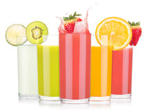 Tasty summer fruit drinks in glass with splash Stock Photography