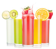 Tasty summer fruit drinks in glass with splash Royalty Free Stock Photography