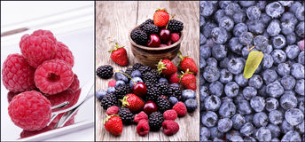 Tasty summer fruits on a wooden table Royalty Free Stock Photo