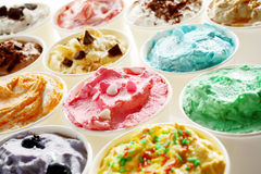 Tasty summer ice cream in different flavors Stock Image