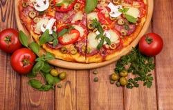Tasty supreme pizza Stock Image