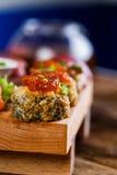 Tasty sushi set, Japanese food Stock Images
