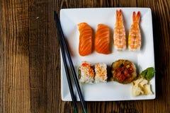 Tasty sushi set, Japanese food Stock Image
