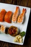 Tasty sushi set, Japanese food Stock Photography