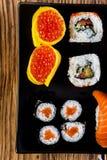 Tasty sushi set, Japanese food Royalty Free Stock Photo