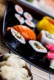 Tasty sushi set, Japanese food Royalty Free Stock Image