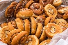 Tasty Swedish cinnamon buns. Royalty Free Stock Photo