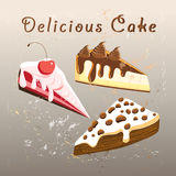Tasty sweet cake Stock Images