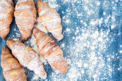 Tasty Sweet Croissant Stock Images