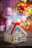 Tasty and sweet gingerbread cottage Stock Photography