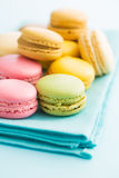 Tasty sweet macarons. Royalty Free Stock Photo
