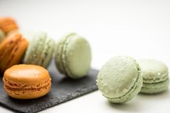 Tasty sweet macarons. Royalty Free Stock Photography
