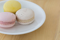 Tasty Sweet Macaroon , Macaron on wooden background. Tasty Sweet Macaron , Macaroons on wooden background stock photos