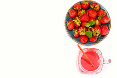 Tasty Sweet Strawberry Compote Stock Photos