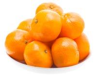 Tasty Sweet Tangerine Orange Mandarin Mandarine Fruit In White P Stock Photos