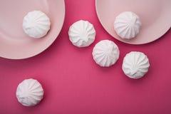 Free Tasty Sweet Zephyr On Pastel Pink Background. Stock Photo - 111407980
