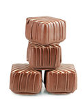 Tasty sweets from a milk chocolate Stock Photo