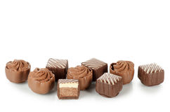 Tasty sweets from a milk chocolate Royalty Free Stock Photo