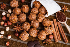 Tasty sweets and spices Royalty Free Stock Photography