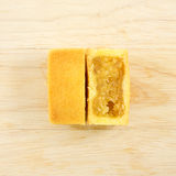 The tasty Taiwanese pineapple pastry cake with egg yolk Royalty Free Stock Photos