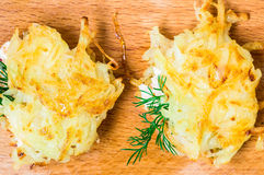 Tasty tapas from grated potatoes Stock Photography