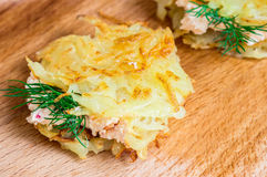 Tasty tapas from grated potatoes Stock Images