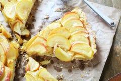 Tasty tart on a napkin Stock Photography