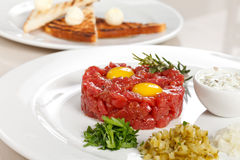 Tasty tartare Stock Images