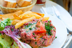Tasty tartare(Raw beef) Royalty Free Stock Photos