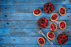 Tasty tartlets with fresh berries Royalty Free Stock Image