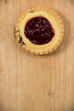 Tasty tartlets with raspberry Stock Image