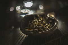Tasty tea in a bowl.  stock images