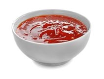 Free Tasty Tomato Sauce In Bowl On White Background Stock Photos - 150036013