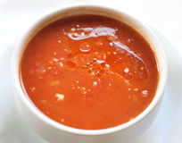 Tasty tomato soup Stock Photos