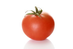 Tasty tomato on a white background Royalty Free Stock Image